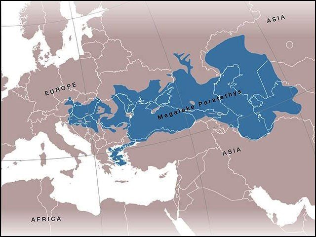 آج زمین پر موجود تمام جھیلوں میں جتنا پانی ہے، پیراٹیتھیس جھیل کا پانی اس سے بھی دس گنا زیادہ تھا۔ (فوٹو: سائٹنفک رپورٹس)