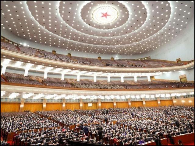 غیر ملکی پابندیوں کے خلاف قانون کی منظوری ''قومی عوامی کانگریس'' کے اجلاس میں دی گئی۔ (فوٹو: گلوبل میڈیا)