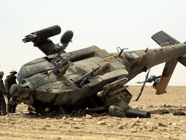 ہیلی کاپٹر بغداد میں دہشت گردوں کے خلاف آپریشن میں مصروف تھا، عراقی آرمی